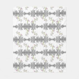 Floral Collage Pattern Fleece Blanket