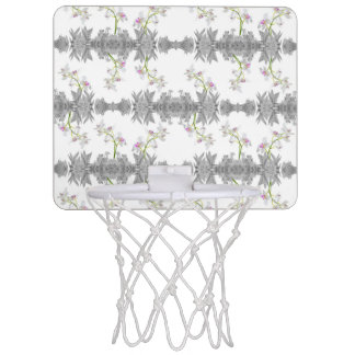 Floral Collage Pattern Mini Basketball Hoop