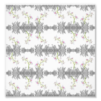 Floral Collage Pattern Photo Print