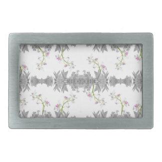 Floral Collage Pattern Rectangular Belt Buckle