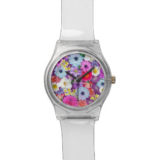 Floral Collage Wristwatch