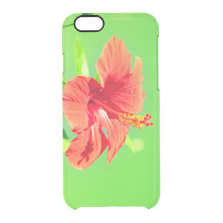 floral collection. Hibiscus Clear iPhone 6/6S Case
