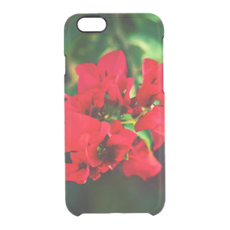 floral collection. red clear iPhone 6/6S case