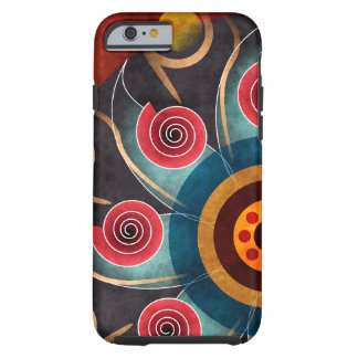 Floral Color Abstract Vector Art iPhone 6 case Tough iPhone 6 Case