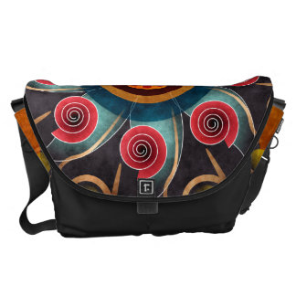 Floral Color Abstract Vector Art Large Bag Commuter Bags