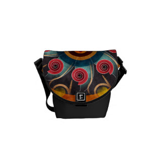Floral Color Abstract Vector Artt Mini Bag Courier Bags