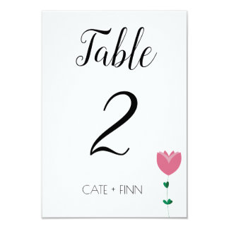 Floral Colorblock Table Card