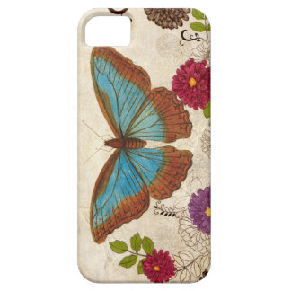 Floral Colored pencil moth/ butterfly iPhone 5 Case