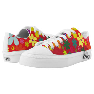 Floral colorful low tops