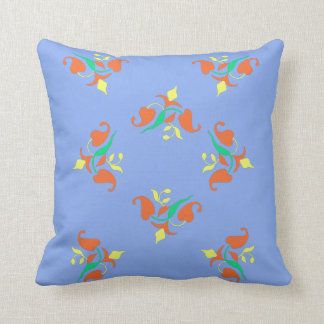 Floral Colorful Pattern Print Throw Pillow Cushion