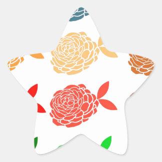 Floral coloroful pattern elegant chic modern cute sticker