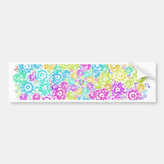 Floral colourful arrangement bumper sticker