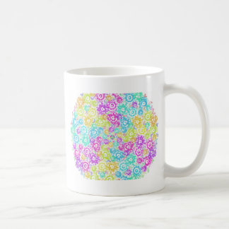 Floral colourful arrangement coffee mug