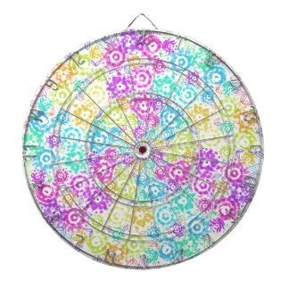 Floral colourful arrangement dartboard