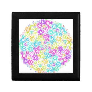 Floral colourful arrangement gift box