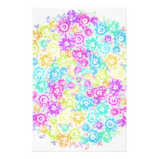 Floral colourful arrangement personalized stationery