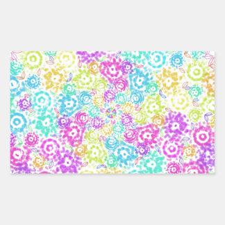 Floral colourful arrangement rectangular sticker