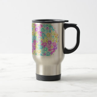 Floral colourful arrangement travel mug