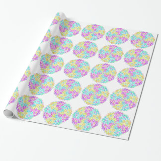 Floral colourful arrangement wrapping paper