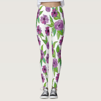 floral composition for clothing leggings
