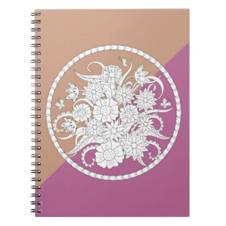 floral composition into sends it on geometric notebook