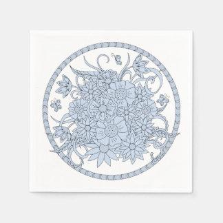 floral composition into sends it paper napkin