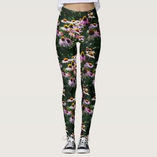 Floral Coneflowers All Over Print Leggings