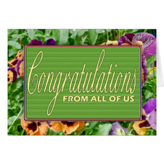 Floral Congratulations Retirement Card From All Of