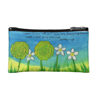 Floral Cosmetic Case, Small Cosmetic Bag
