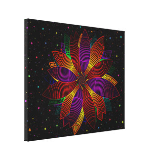 Floral cosmos canvas print