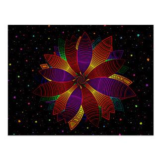 Floral cosmos postcard