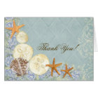 Floral Cottage by the Sea Shells Beachy Wedding Card