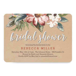 Floral Craft Bridal Shower Invitation
