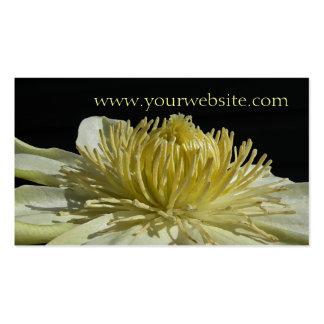 Floral Cream Wedding Business Card
