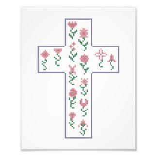 Floral Cross Photograph