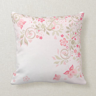 Floral cushion Butterflies Roses