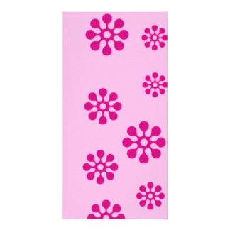 floral customised photo card