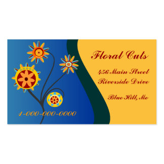 Floral Cuts Business Card Templates
