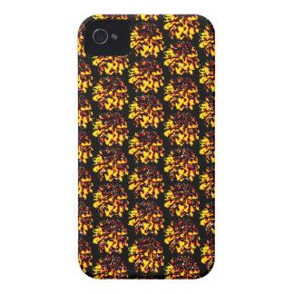 Floral Dahlia Flower Pattern iPhone 4 Case-Mate Case