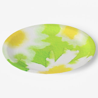 Floral Daisy Watercolor Paper Plates