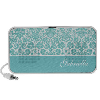 Floral Damask Doodle Custom Speakers Personalized