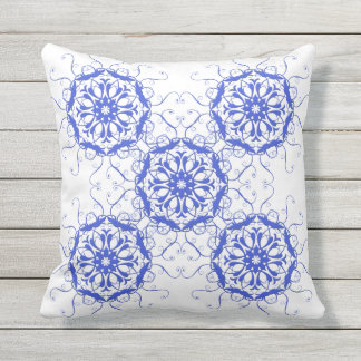 floral damask pattern. outdoor cushion