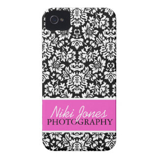 Floral Damask   Pink iPhone 4 Covers