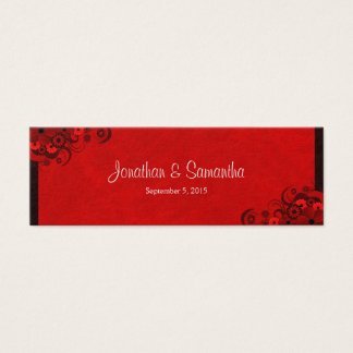 Floral Dark Red Floral Gothic Wedding Favor Tags