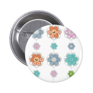 Floral Decor 6 Cm Round Badge