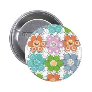 Floral Decor Pinback Buttons