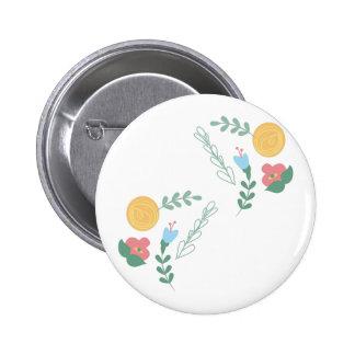 Floral Decor 6 Cm Round Badge