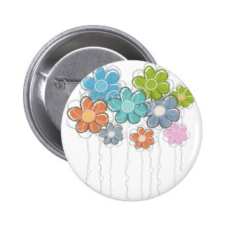 Floral Decor Button