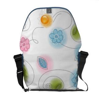 Floral Decor Messenger Bag