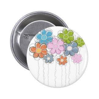 Floral Decor Pinback Button